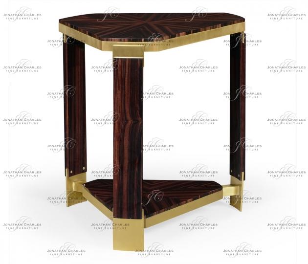 small rushmore Triangular Dark Macassar Ebony Side Table