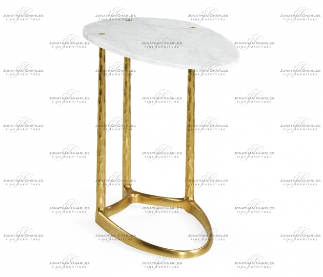 small rushmore Fusion Brass Sofa Table with Marble Top