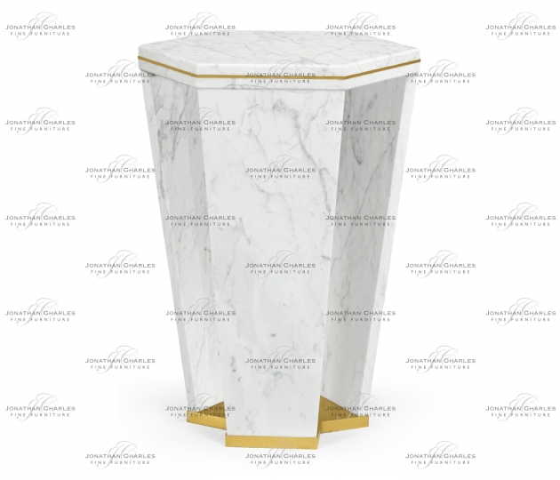 small rushmore Fusion Hexagon Marble End Table