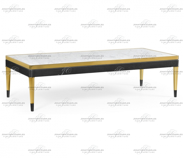 small rushmore Fusion Rectangular Oak & Marble Cocktail Table