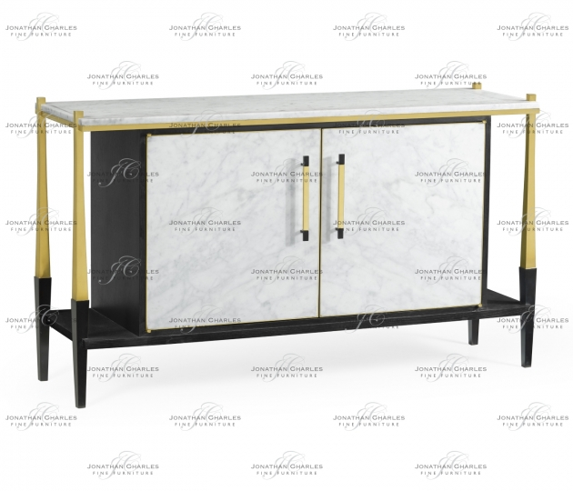 small rushmore Fusion Sideboard with White Marble Top