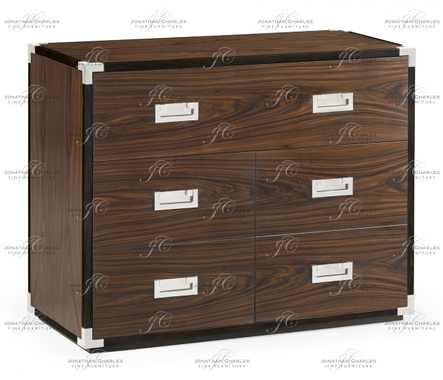 small rushmore Campaign Style Dark Santos Rosewood Filing Cabinet