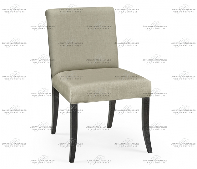 small rushmore Casual Transitional Black Mocha Oak Dining Side Chair, Upholstered in MAZO