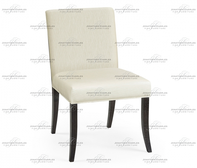 small rushmore Casual Transitional Black Mocha Oak Dining Side Chair, Upholstered in Castaway