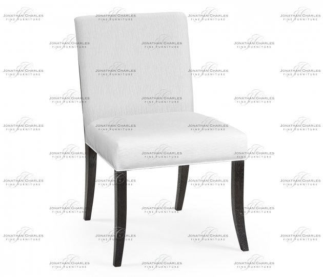 small rushmore Geometric Black Mocha Oak Dining Side Chair, Upholstered in COM
