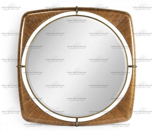 "small rushmore Toulouse 52"" Walnut Mirror"