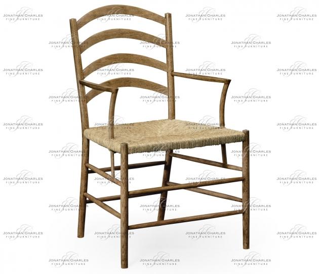 small rushmore Glendurgan Washed Oak Arm Chair