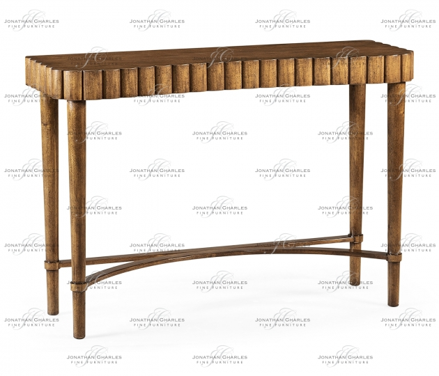 small rushmore Allerdale Grey Fruitwood Console