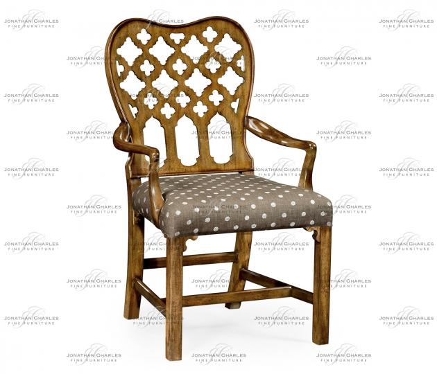 small rushmore Kingsley Grey Fruitwood Arm Chair