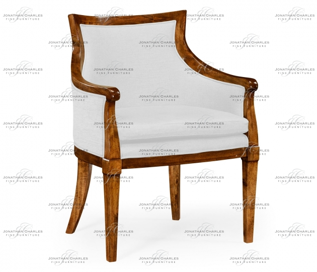 small rushmore Belton Grey Fruitwood Armchair, Upholstered in COM