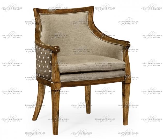 small rushmore Belton Grey Fruitwood Armchair