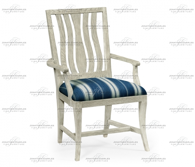 small rushmore Eva Cloudy Oak Dining Arm Chair