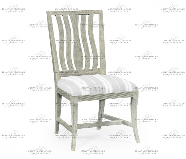 small rushmore Eva Cloudy Oak Dining Side Chair, Upholstered in COM