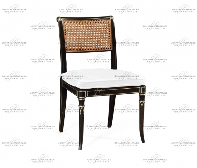 small rushmore Linden Charcoal Wash Dining Side Chair, Upholstered in COM