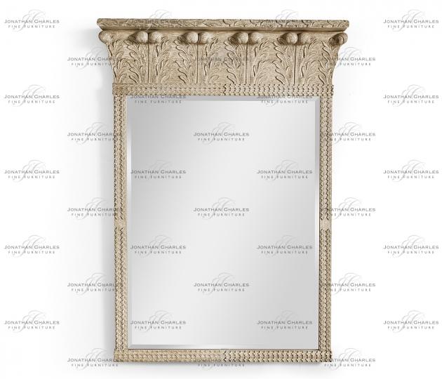 small rushmore Rothesay Venetian White Oak Mirror