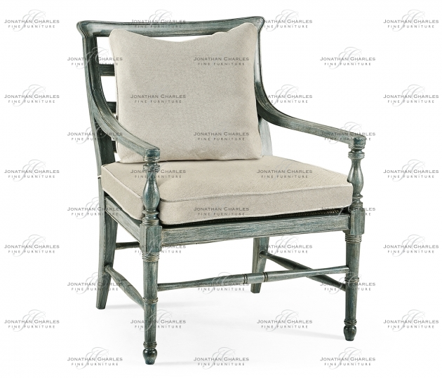 small rushmore Florennes Ocean Washed Armchair