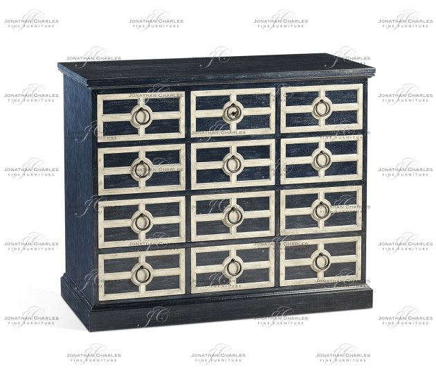 small rushmore Midmoor Blue Chest of Drawers