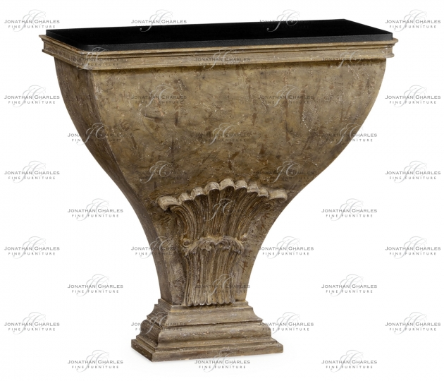 small rushmore Luccata Country Distressed Console Table