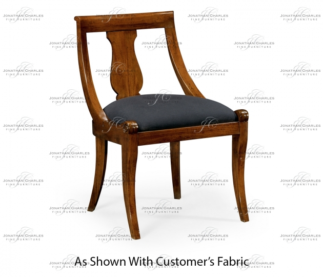 small rushmore Empire Imperial Mahogany Side Chair, Upholstered in COM