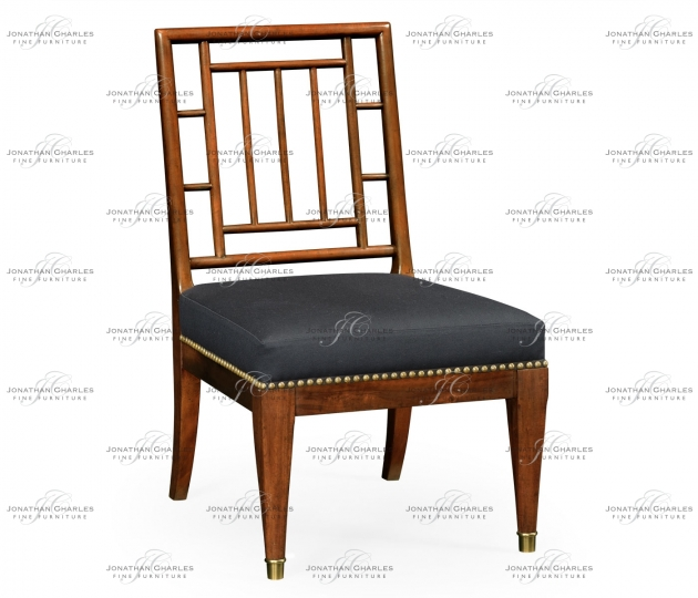 small rushmore Low Chauffeuse Imperial Mahogany Chair, Upholstered in COM