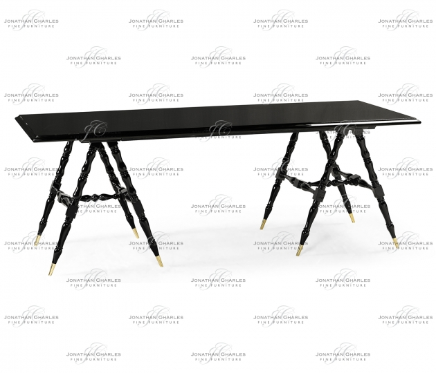 small rushmore Louis Philippe Jet Black Desk