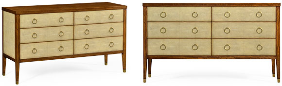 495392 - Double Chest of Drawers in Antique Cream Shagreen